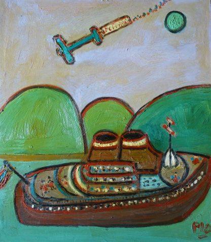 Avión y barco