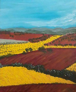 Campos de Castilla VI - Óleo sobre lienzo