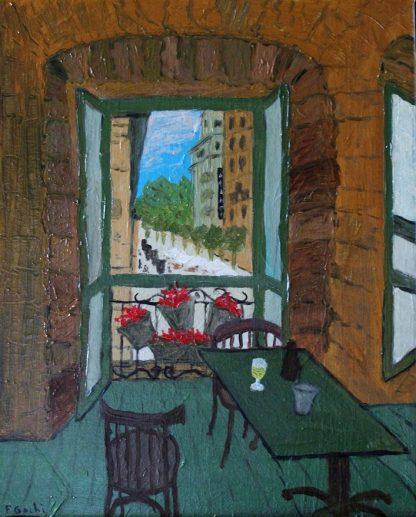 Interiores II - La ventana de la vida - Óleo sobre lienzo