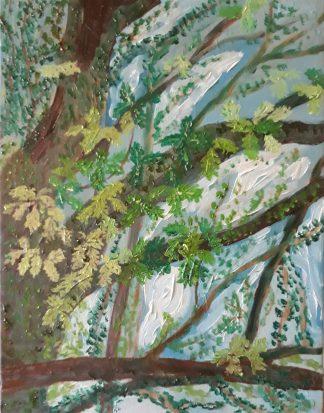 Árboles X - Óleo sobre lienzo