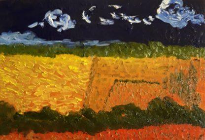Campos de Castilla XII - Óleo sobre lienzo