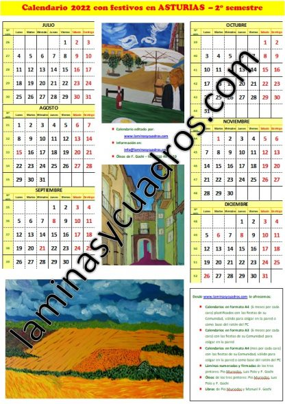 Reserva de calendrios Formato A3